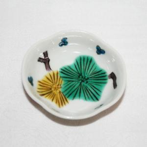 手描き 九谷焼 和洋食器 木瓜松文様豆皿(箸置き)|kutani-bitouen|02