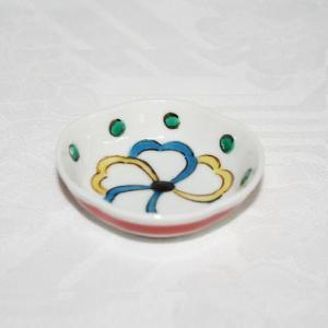 手描き 九谷焼 和洋食器 五弁花文様豆皿(箸置)|kutani-bitouen
