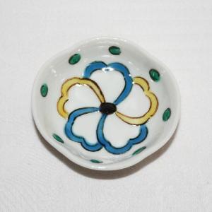 手描き 九谷焼 和洋食器 五弁花文様豆皿(箸置)|kutani-bitouen|02