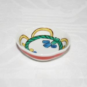 手描き 九谷焼 和洋食器 木瓜縄飾り文様豆皿|kutani-bitouen