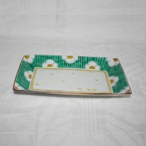 手描き 九谷焼 和洋食器 白梅文様八寸長皿|kutani-bitouen