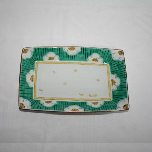 手描き 九谷焼 和洋食器 白梅文様八寸長皿|kutani-bitouen|03