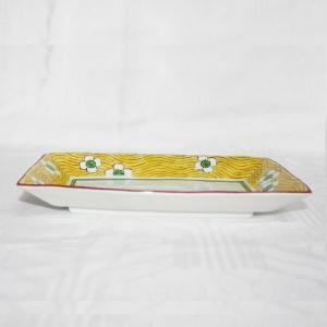 九谷焼 和洋食器 梅文様八寸長皿|kutani-bitouen|02