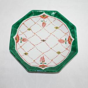手描き 九谷焼 和洋食器 瓔珞文八角八寸皿|kutani-bitouen