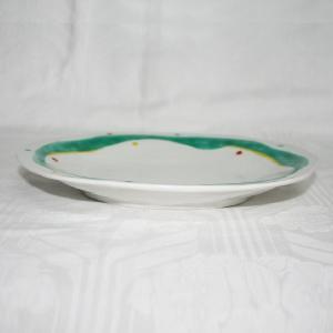 手描き 九谷焼 和洋食器 水玉よろけ文八寸楕円皿|kutani-bitouen|02