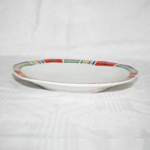 手描き 九谷焼 和洋食器 メキシカン文八寸楕円皿|kutani-bitouen|02