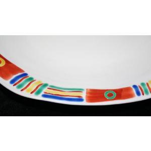手描き 九谷焼 和洋食器 メキシカン文八寸楕円皿|kutani-bitouen|03
