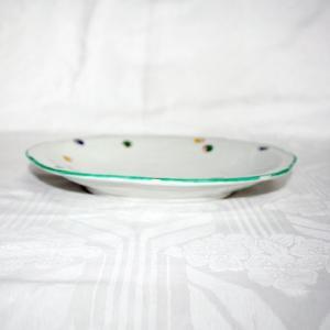 手描き 九谷焼 和洋食器 水玉文八寸楕円皿|kutani-bitouen|02