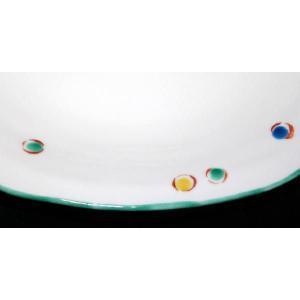 手描き 九谷焼 和洋食器 水玉文八寸楕円皿|kutani-bitouen|03