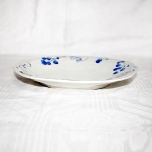 手描き 九谷焼 和洋食器 染付山帰来文八寸楕円皿|kutani-bitouen|02