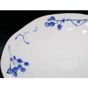 手描き 九谷焼 和洋食器 染付山帰来文八寸楕円皿|kutani-bitouen|03