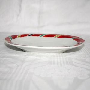 手描き 九谷焼 和洋食器 間道文様八寸楕円皿|kutani-bitouen|02
