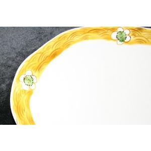 手描き 九谷焼 和洋食器 白花文八寸楕円皿|kutani-bitouen|03