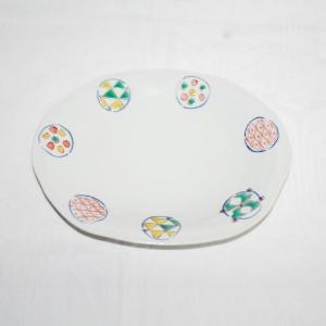 手描き 九谷焼 和洋食器 丸紋八寸楕円皿|kutani-bitouen