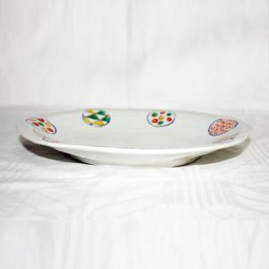 手描き 九谷焼 和洋食器 丸紋八寸楕円皿|kutani-bitouen|02