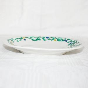 手描き 九谷焼 和洋食器 ペルシャ唐草文八寸楕円皿 kutani-bitouen 02
