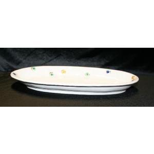 手描き 九谷焼 和洋食器 水玉文尺二細形楕円皿|kutani-bitouen|02