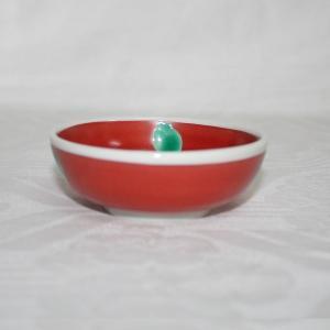 手描き 九谷焼 和洋食器 赤巻水玉文小鉢|kutani-bitouen|02