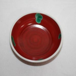 手描き 九谷焼 和洋食器 赤巻水玉文小鉢|kutani-bitouen|03
