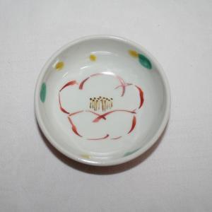 手描き 九谷焼 和洋食器 赤巻椿文小鉢|kutani-bitouen|02
