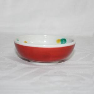 手描き 九谷焼 和洋食器 赤巻椿文小鉢|kutani-bitouen|03
