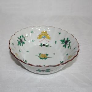 手描き 九谷焼 和洋食器 蝶文平底五寸鉢|kutani-bitouen