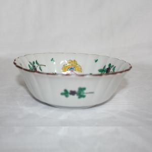 手描き 九谷焼 和洋食器 蝶文平底五寸鉢|kutani-bitouen|02