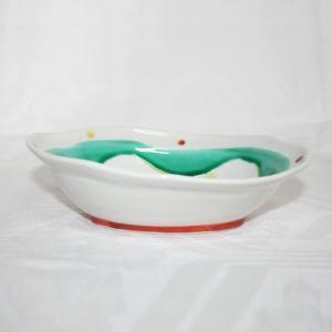 手描き 九谷焼 和洋食器 水玉よろけ文六寸楕円鉢 kutani-bitouen 03