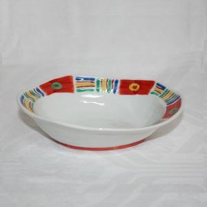 手描き 九谷焼 和洋食器 メキシカン文六寸楕円鉢 kutani-bitouen