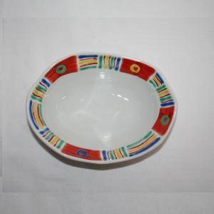 手描き 九谷焼 和洋食器 メキシカン文六寸楕円鉢 kutani-bitouen 02