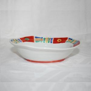 手描き 九谷焼 和洋食器 メキシカン文六寸楕円鉢 kutani-bitouen 03