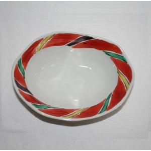 手描き 九谷焼 和洋食器 間道文六寸楕円鉢 kutani-bitouen 02