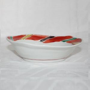 手描き 九谷焼 和洋食器 間道文六寸楕円鉢 kutani-bitouen 03