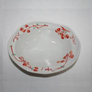 手描き 九谷焼 和洋食器 山帰来文六寸楕円鉢 kutani-bitouen 02
