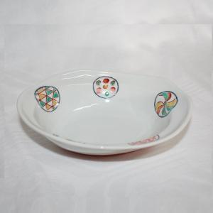 手描き 九谷焼 和洋食器 丸紋六寸楕円鉢|kutani-bitouen