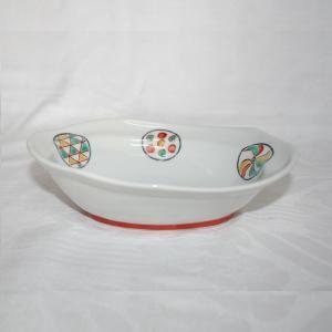 手描き 九谷焼 和洋食器 丸紋六寸楕円鉢|kutani-bitouen|03
