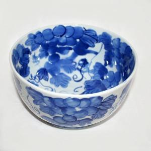 手描き 九谷焼 和洋食器 魯山人うつし 染付葡萄文七寸鉢|kutani-bitouen|02