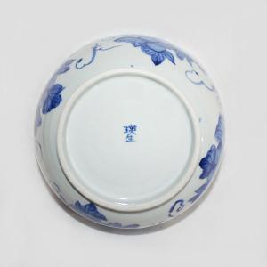 手描き 九谷焼 和洋食器 魯山人うつし 染付葡萄文七寸鉢|kutani-bitouen|03