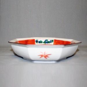 手描き 九谷焼 和洋食器 松竹梅文八角鉢|kutani-bitouen|02