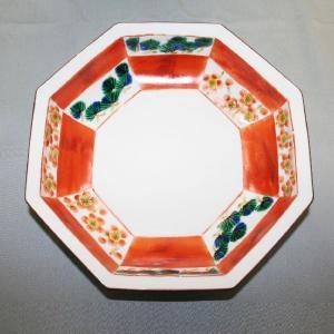 手描き 九谷焼 和洋食器 松竹梅文八角鉢|kutani-bitouen|03
