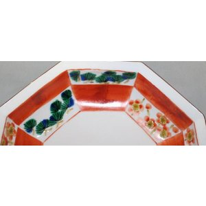 手描き 九谷焼 和洋食器 松竹梅文八角鉢|kutani-bitouen|04