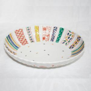 手描き 九谷焼 和洋食器 小紋づくし文様九寸楕円菊鉢 kutani-bitouen 02