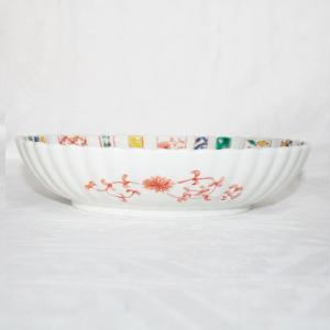 手描き 九谷焼 和洋食器 小紋づくし文様九寸楕円菊鉢 kutani-bitouen 03