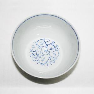 手描き 九谷焼 和洋食器 染付見込梅詰文様お茶碗|kutani-bitouen|03