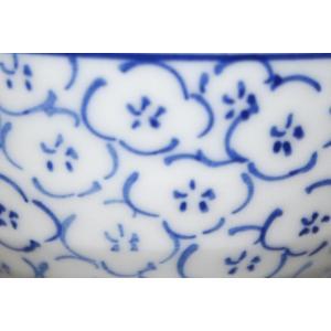 手描き 九谷焼 和洋食器 染付見込梅詰文様お茶碗|kutani-bitouen|05