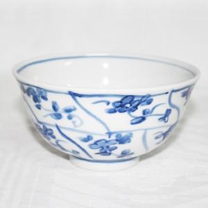 手描き 九谷焼 和洋食器 染付なずな文様お茶碗|kutani-bitouen