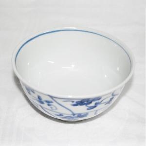 手描き 九谷焼 和洋食器 染付なずな文お茶碗|kutani-bitouen|02