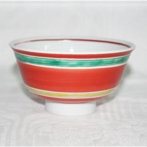 手描き 九谷焼 和洋食器 魯山人写し 赤絵こま文お茶碗|kutani-bitouen