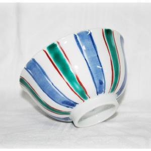 手描き 九谷焼 和洋食器 魯山人うつし 十草文様お茶碗|kutani-bitouen|03