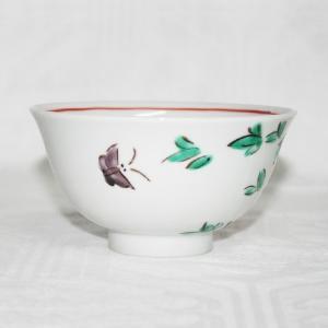 手描き 九谷焼 和洋食器 魯山人うつし 牡丹文様お茶碗|kutani-bitouen|02